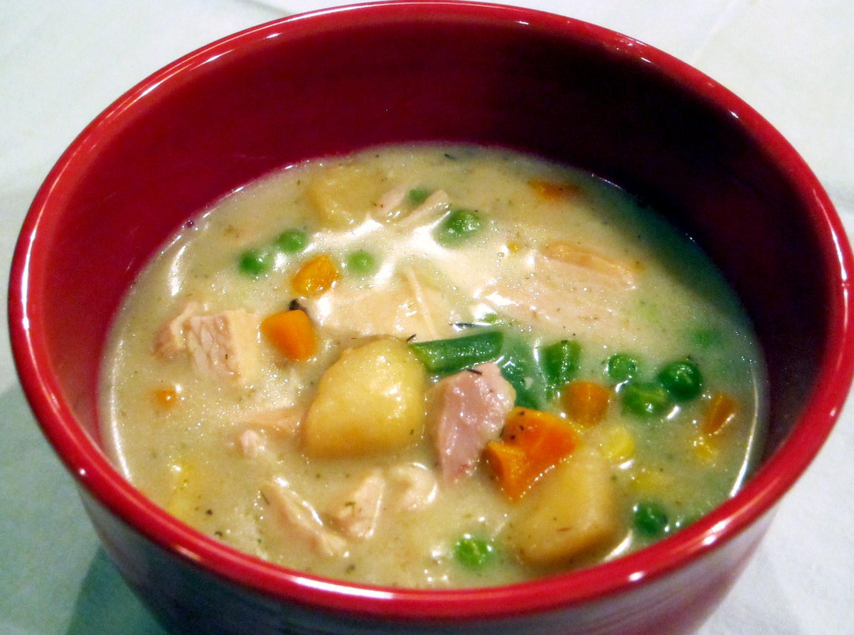 Turkey Pot Pie Soup | the cooking nurse