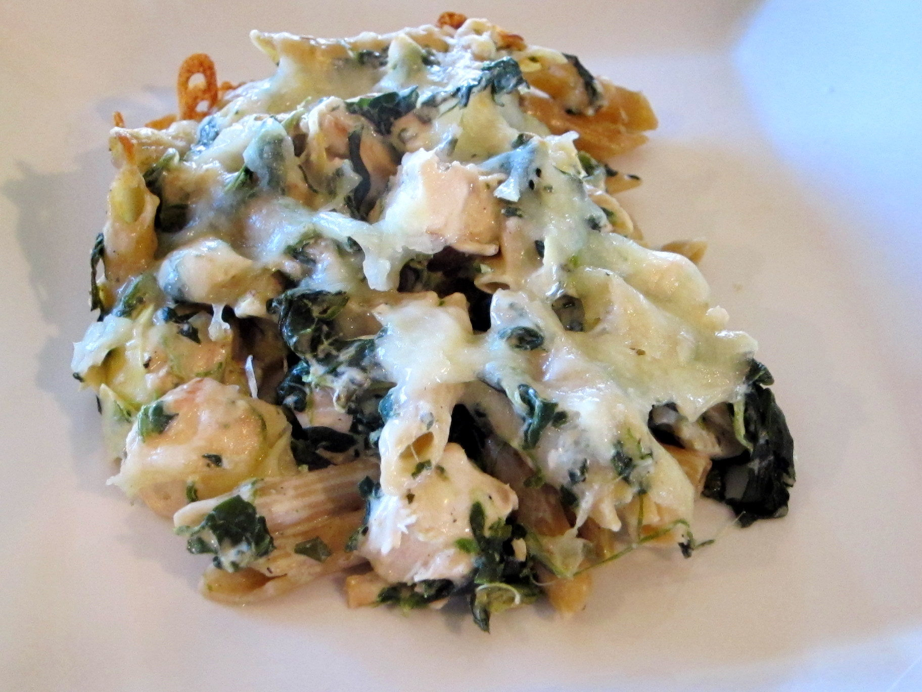 Chicken, Spinach and Artichoke Pasta Bake